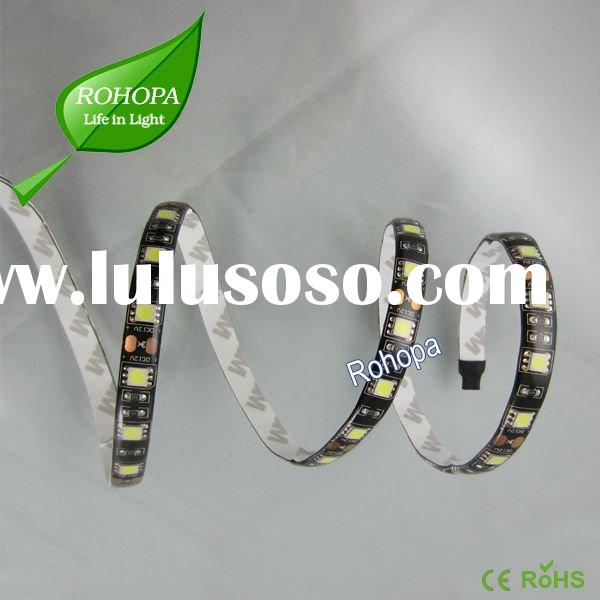 Waterproof 5050 60 LED Strip with Black Color PCB & Good Quality