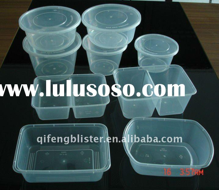 round and rectangular plastic food container box,plastic box and bowl,lunch box