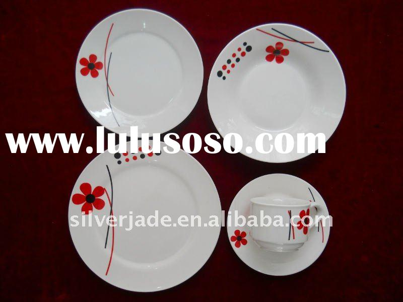 20PCS ceramic dinner set with beautiful decal