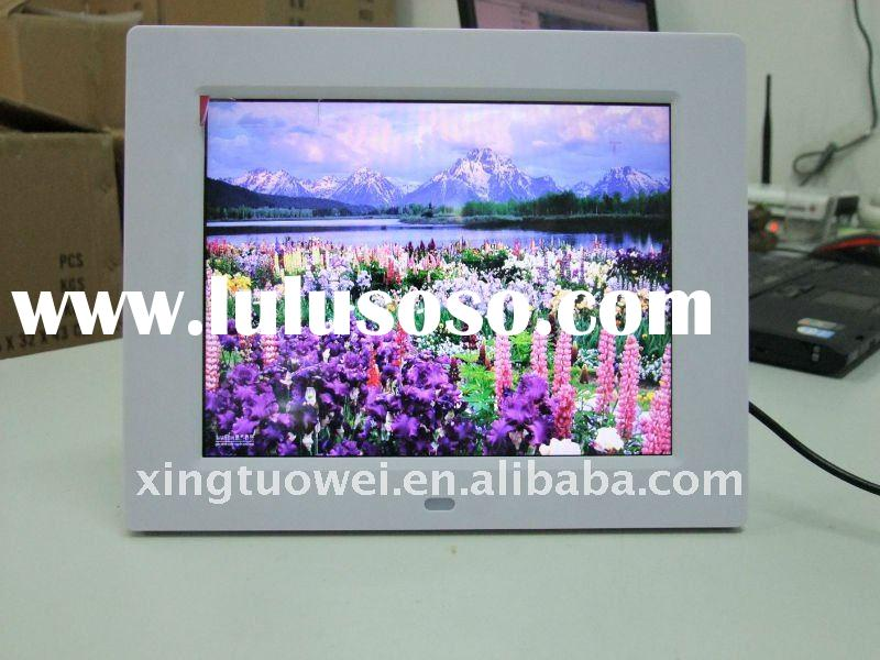 8inch 800*480  high resolution digital photo frame with remote control(model:X-080B)