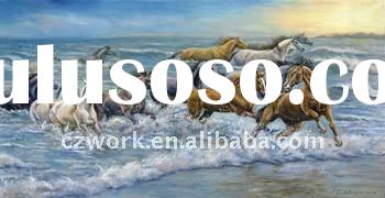 Chinese Horses embroidered painting / decor mural for decoration with top quality and low price