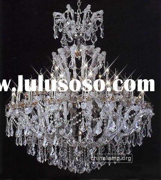 Maria Theresa Crystal Lighting,Pendant Chandelier with Candle Bulbs,Pendant Light/Size:114cm Wide x