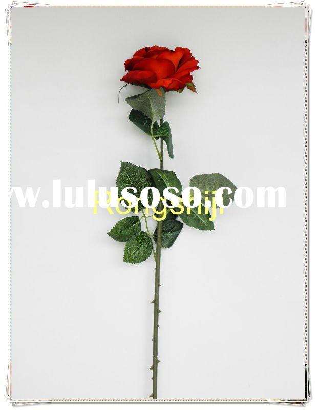 single head new red rose Artificial Silk Flower