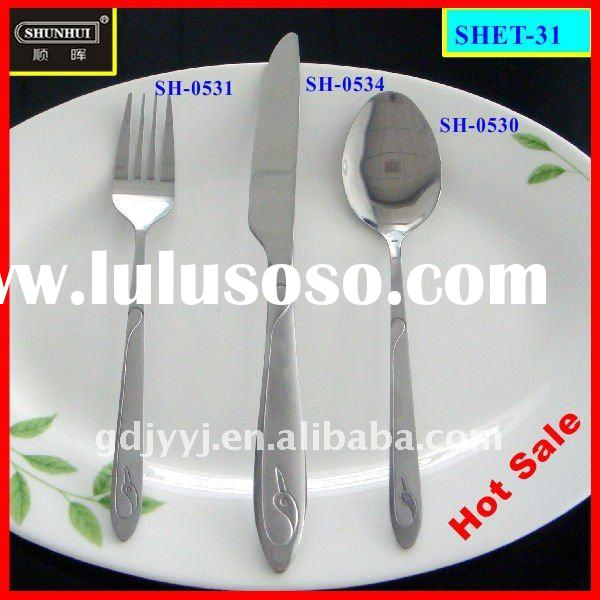 2 mm 3-piece stainless steel flatware set and satin polished dining set of kinfe fork and spoon