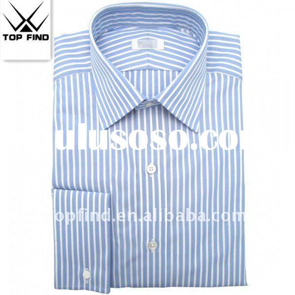 men's french cuffs cotton dress shirts