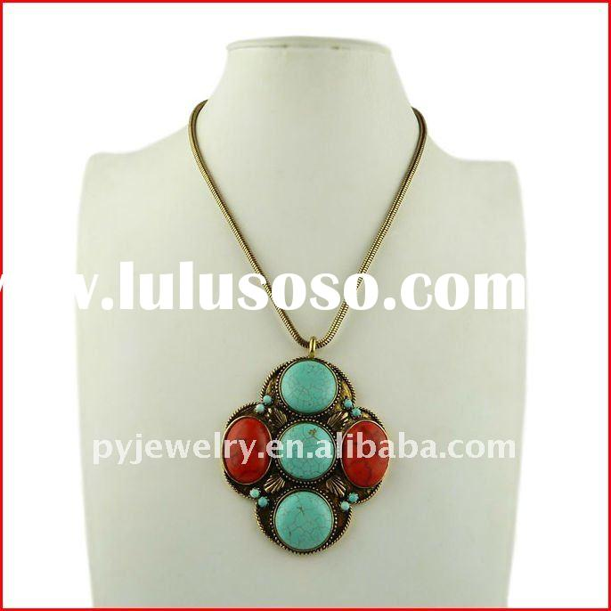 2012 Vogue Big Turquoise Collection Necklaces ,Fashion jewelry