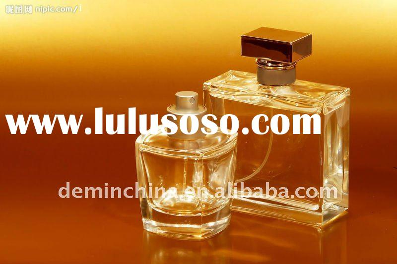 90ml delicate glass bottle for perfume with pump sprayer