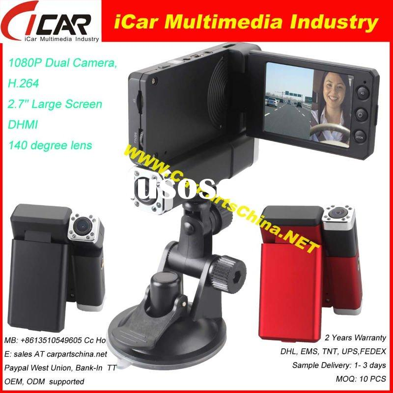 HD1080P 2ch Car DVR Car Video Recorder Car Black Box HDMI H.264 140degree lens DVR7000