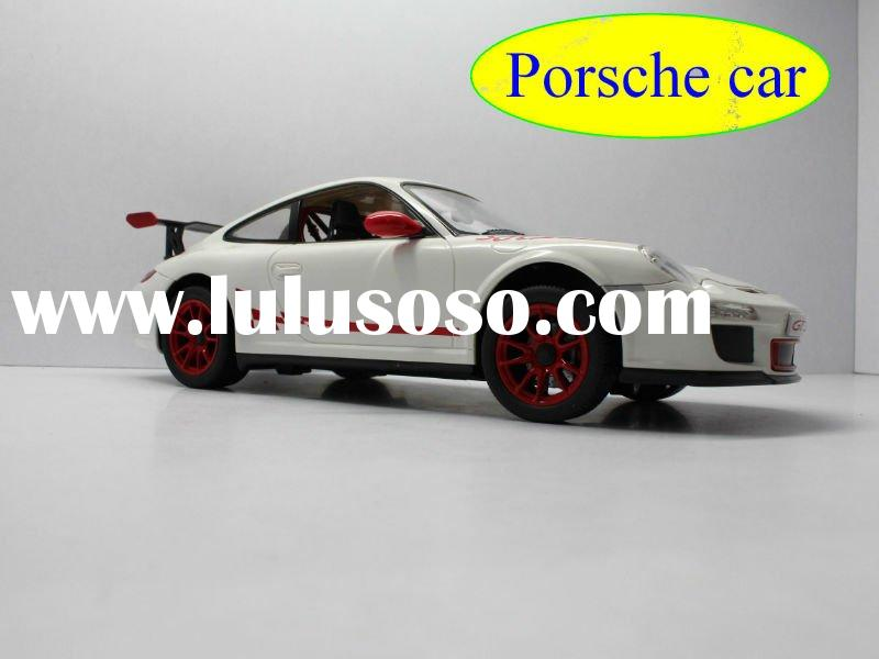 license 1:14 scale porsche rc car toy orange color