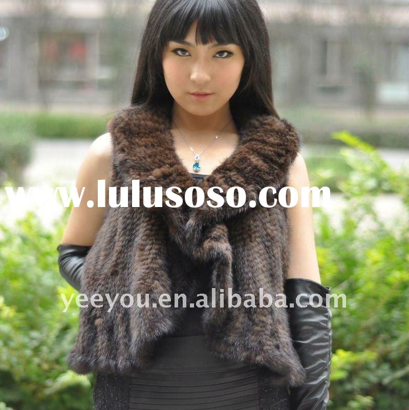 2011 female mink fur  Cape with floral collar 11YY-MH-001