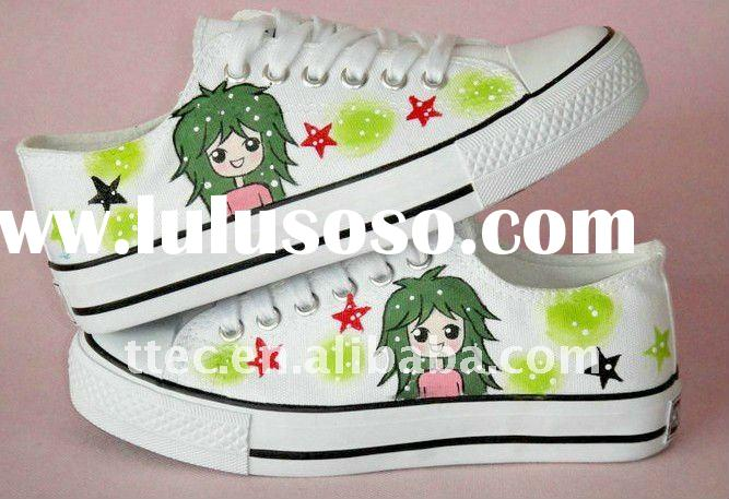 Hand painted cheap canvas shoes
