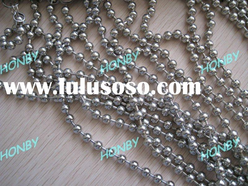 Nickel Plated Metal Curtain Bead Chain for Hotel Decoration