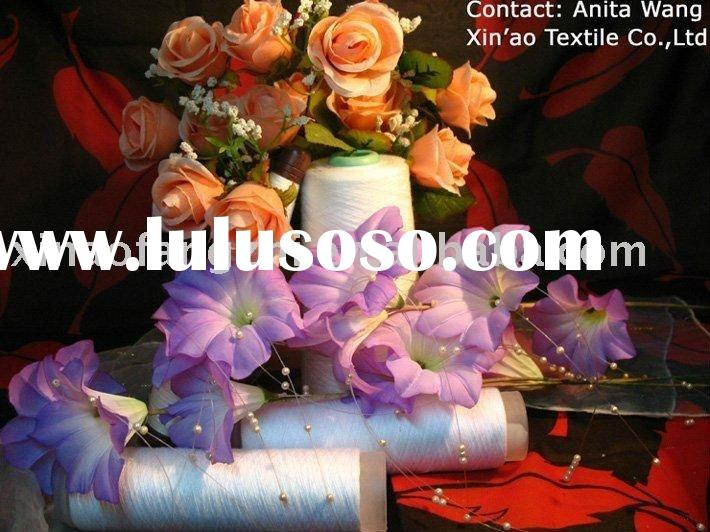 Polyester spun yarn for 20s and 40s