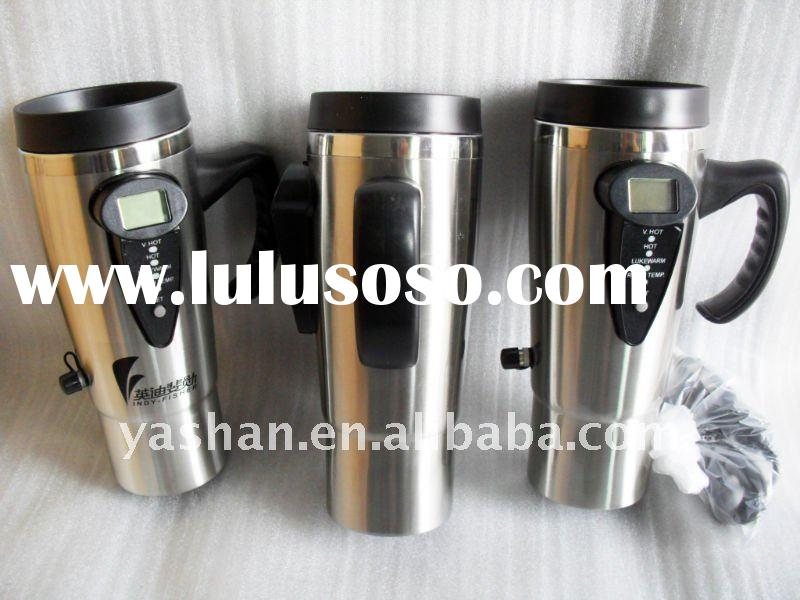 promotion 500ml double stainless steel electronic auto mug cup