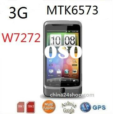 3G+GSM Dual SIM Android Phone W7272 with 3.5inch Capacitive multi-touch screen,GPS,Wifi