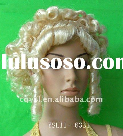 Blond fashionable curl wigs for lovely girls YSL11--6331