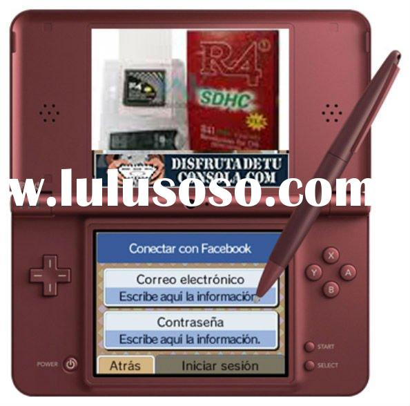 Christmas gift Blue burgundy black video game console for nintendo DSI XL LL with 60 games in box By