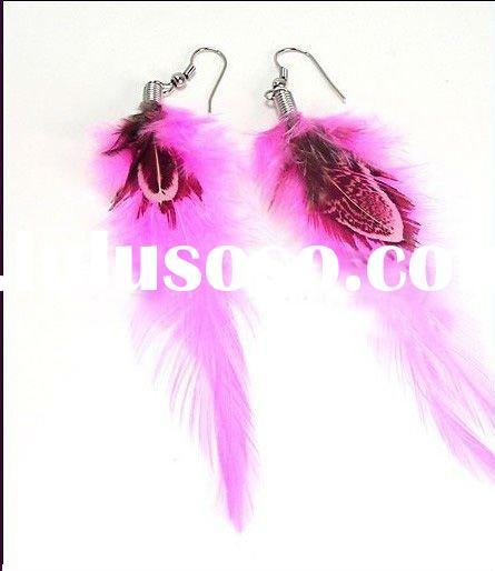 Crimson snow feather earrings pendant jewelry fashion earring