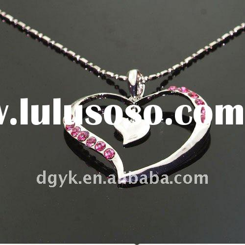 Fashion Heart Shaped Golden Necklace Jewelry