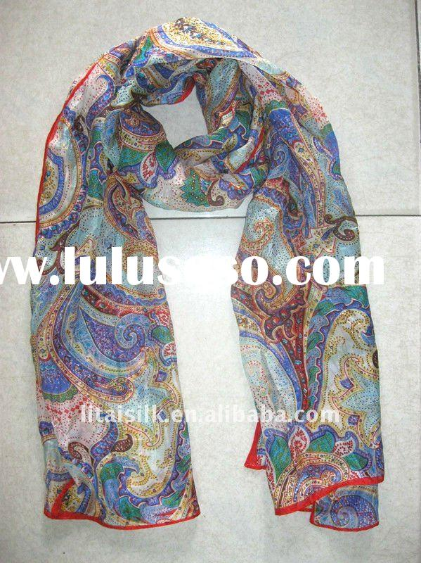 Printed fashion silk scarf