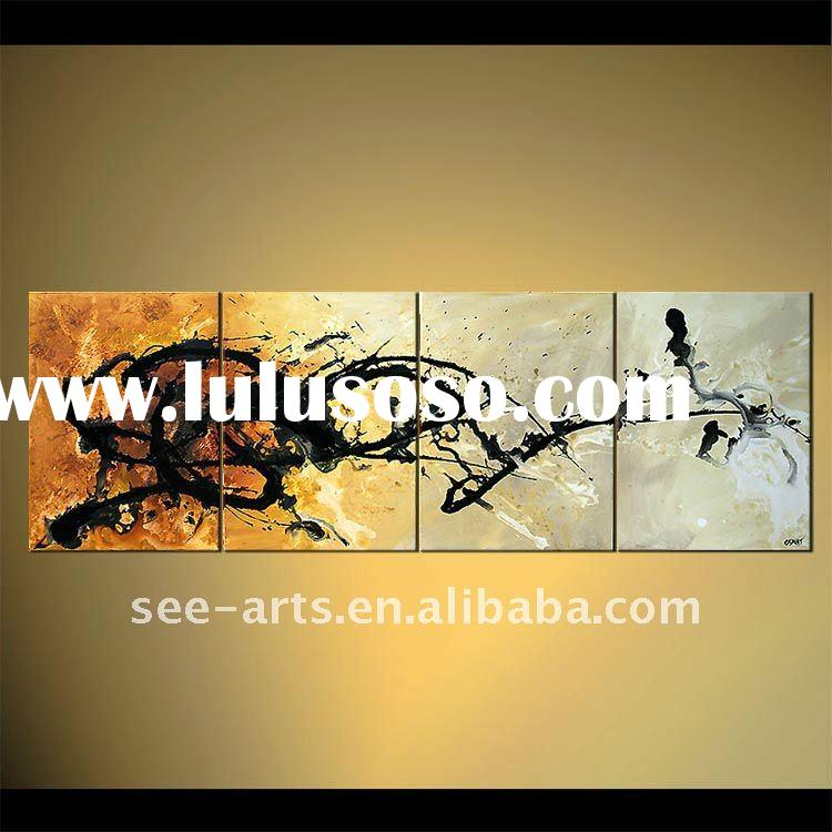contemporary abstract group wall painting designs