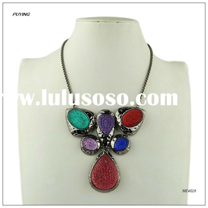 Fashion Colourful Resin Zinc Alloy Lady Festival Necklace,Fashion Festival Jewellery