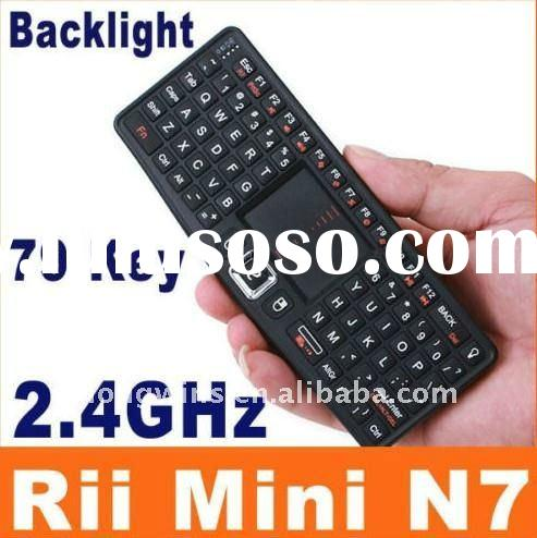 PC Laptop 2.4GHz Wireless Keyboard RF 2.4G Rii Mini N7 Touchpad LED USB Receiver
