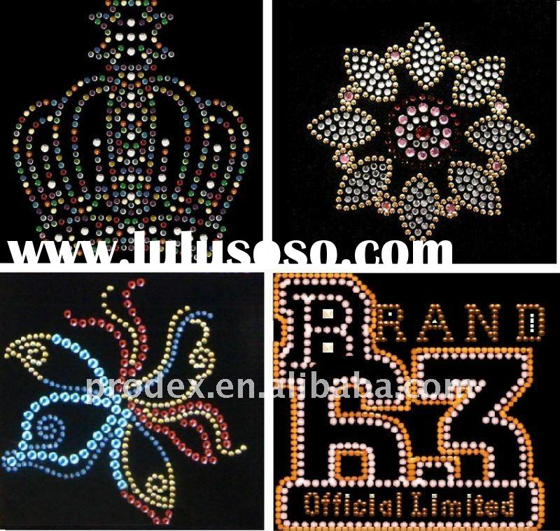 Iron on garment accessories DMC rhinestone, heat transfer iron on garment accessories, hot fix motif
