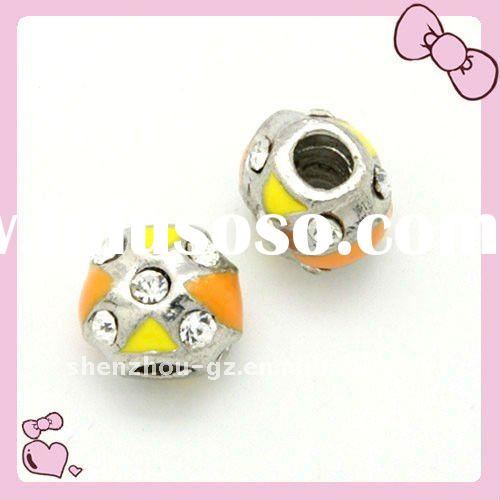 fashion jewelry accessory ,big hole beads with enamel