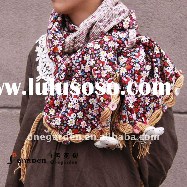 New Design Flower And Animal Print Fashion Scarf