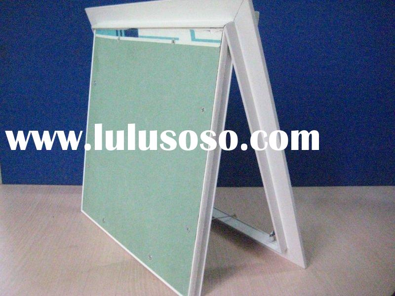 Aluminum access panel with gypsum board