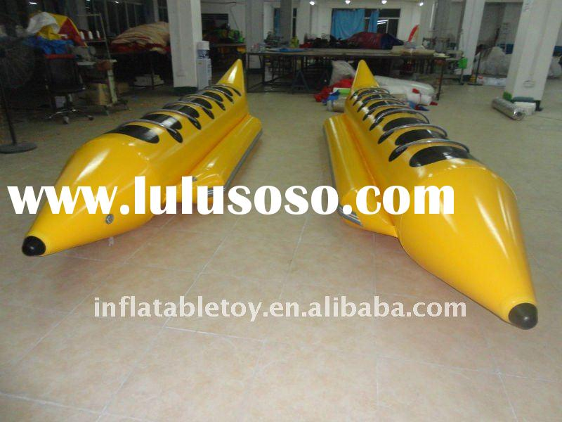 Hot selling high quality inflatable water banana boat