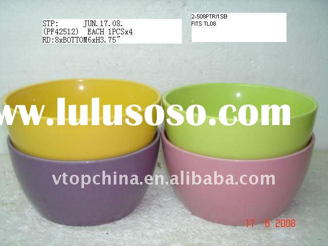 Solid Color Ceramic Indoor Flower Pot