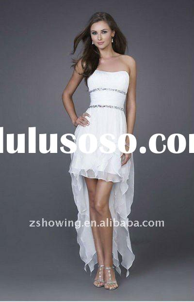 WDZS2405 front short and long back wedding dress arabic evening dress