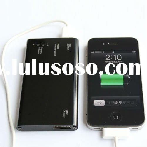 2000mAh 5000mAh portable battery charger for iPhone 4 4S,iPod,PSP,GPS,MP4...