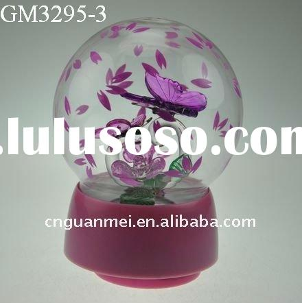 2012 valentine day the Butterfly Lovers love gift with led light and music box
