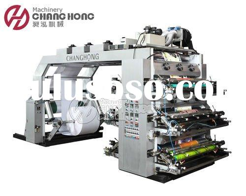 6 Colour Flexographic Printing Machinery for paper bags