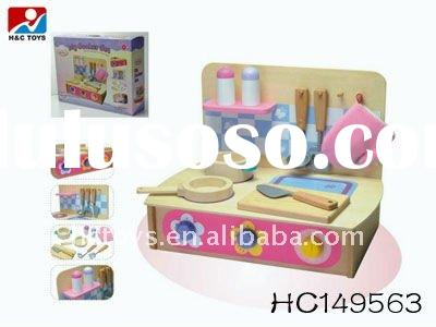 Kids Play Set Wooden Toy Kitchen HC149563