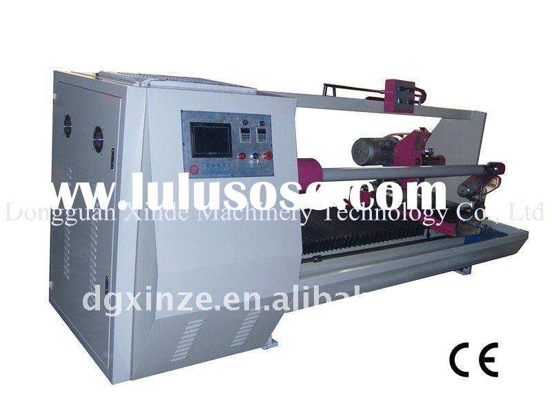 CE Approved Single Shaft Automatic Tape Roll Cutting Machine