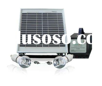 solar panel kit with 2 led lamps promotion price
