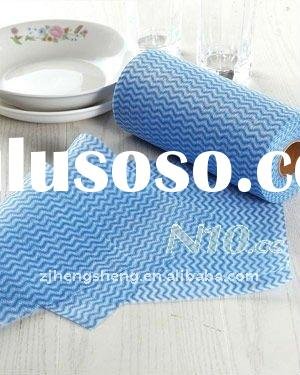 spunlace nonwoven cleaning wiper cloth towel roll