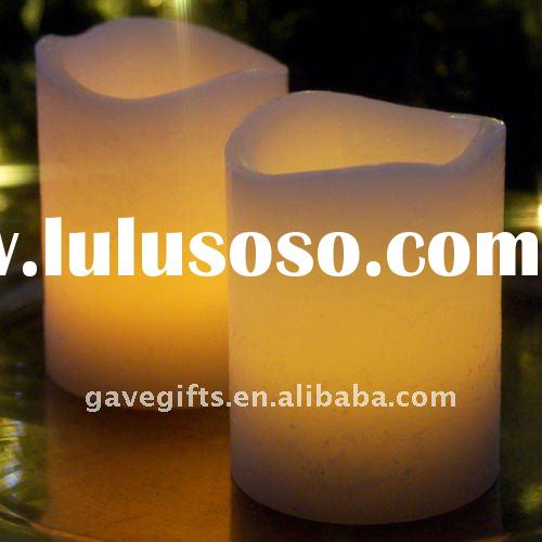 christmas led wax candle light