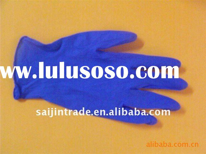 disposable nitrile examination gloves purple/blue