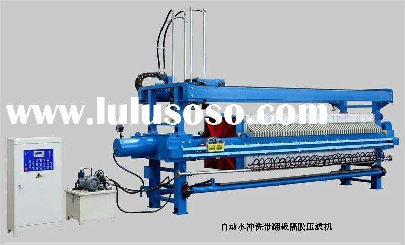 High-pressure water wash with flap polypropylene membrane filter press