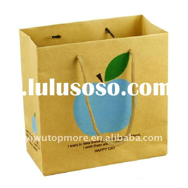 Brown kraft paper bag for shopping/advertising/promotion/gift packing
