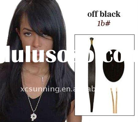 18 inches straight colored black stick I tip pre-bonded hair extensions