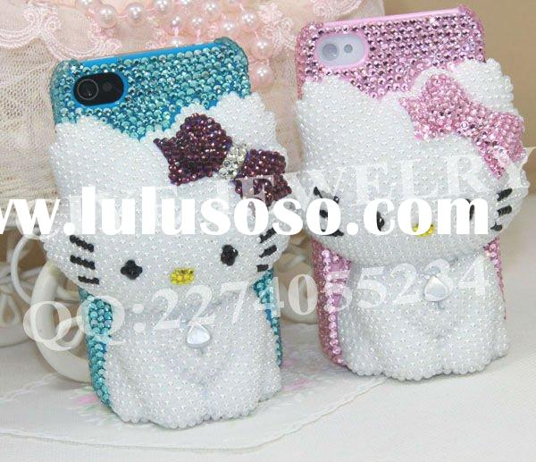 2011 Fashion 3d bling cell phone case for iphone4