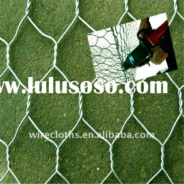 (manufacturer) Hexagonal wire mesh--stone cage netting