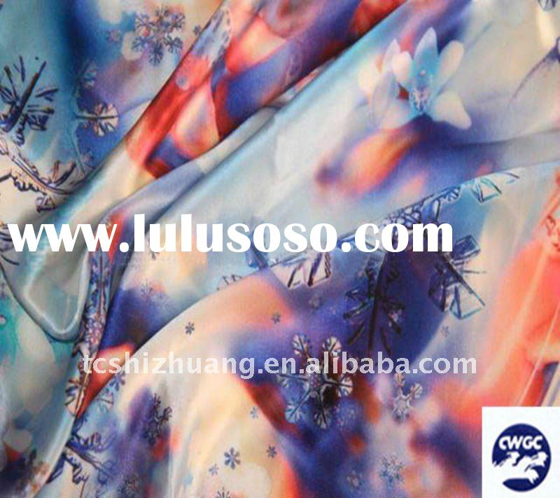 digital printing  silk  fabric for  Han Chinese clothing cheongsam fabric