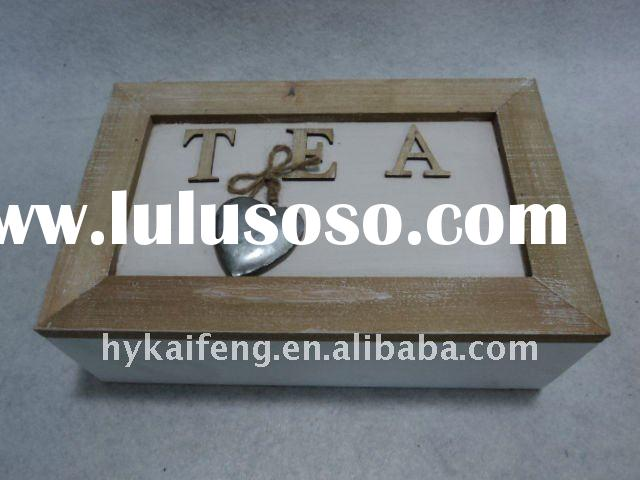 natural wooden tea  box